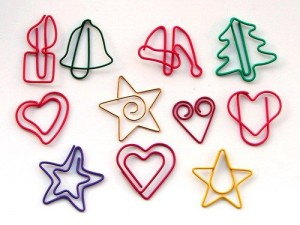 holiday paper clips