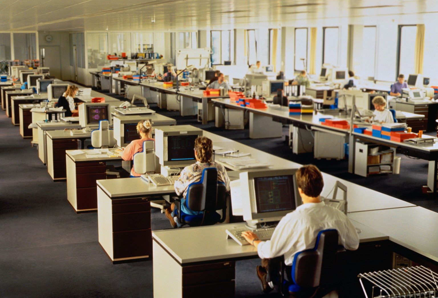 open office floor plans.  Rethinking the Open Office Plan